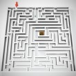 Royalty-Free Stock Photo: Maze with treasure