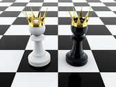 Two kings — Stock Photo