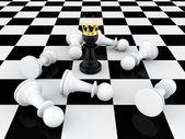 Pawn king — Stock Photo