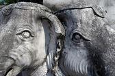 Detail van beelden van olifanten — Stockfoto