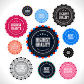 Collection of Premium Quality badges — Stock Vector