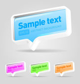 Vector speech bubbles set — Stock Vector