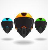 Vector colored helmets — Stock Vector