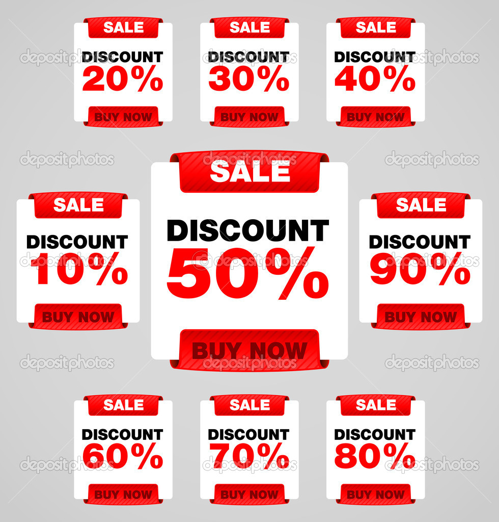 Discount or sale tag  Stock Vector #9888163