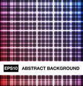 Abstract neon crossed lines — Stock Vector