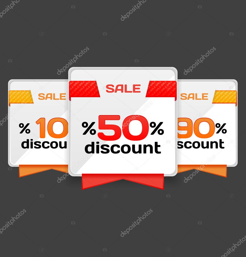Sale or discount tag — Stock Vector #9980538