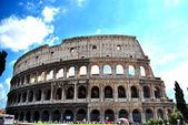 Roman Coliseum facade — Stock Photo