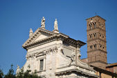 Basilica of Santa Francesca Romana in Rome — Stock Photo