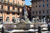 La fontana del Moro in Rome — Stock Photo