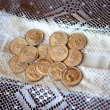 Stock Photo: Wedding arras coins