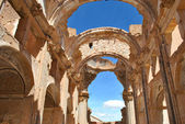 Inside the church of St. Agustin in Belchite — Stock Photo