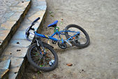 Bike on the ground — Stock Photo