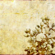 Lovely background image with earthy texture and floral elements. useful design element. - Zdjcie stockowe