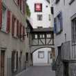 Stock Photo: Architectural features of old swiss town called chur