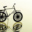 Lovely background image with bike. useful design element. - Stock Photo