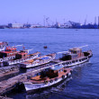 Large port at the mediterranean sea in egypt (port said) — Stock Photo #10136109