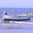 Fishing boat in the mediterranean sea in egypt — Stock Photo
