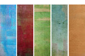 Lovely set of banners with earthy textures. useful design elements — Stock Photo