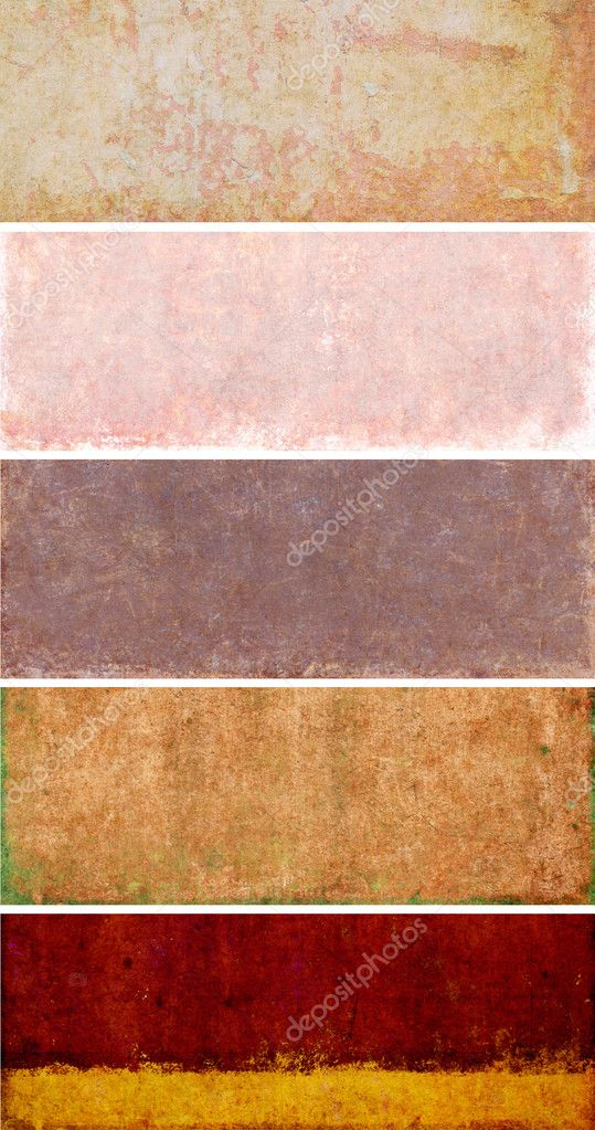 Lovely set of banners with earthy textures. useful design elements  — Stock Photo #10135317