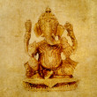 Lovely background image with figure of hindu deity ganesha. very useful design element. - Stock Photo