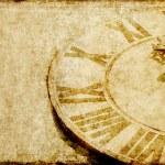 imagen de fondo encantador con una cara de reloj antiguo — Foto de Stock