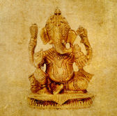 Lovely background image with figure of hindu deity ganesha. very useful design element. — Stock Photo