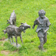Beautiful sculpture of a shepherd and his goats - Lizenzfreies Foto