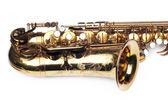 Beautiful golden saxophone — Stock Photo
