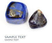 Una colección de piedras preciosas hermosas en fondo blanco — Foto de Stock
