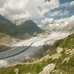Aletsch glacier (switzerland) — Foto de Stock