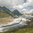 图库照片: Aletsch glacier (switzerland)