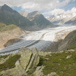 The Great Aletsch Glacier — Stock Photo