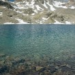 Beautiful alpine lake in Engadine, Switzerland — Foto Stock