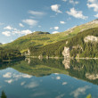 Lovely alpine landscape (Lake Marmorera, Switzerland) — Stock Photo