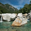 The beautiful valley of Verzasca in Ticino, Switzerland - Stock Photo