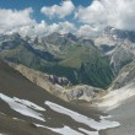 Lovely alpine landscape in Engadine, Switzerland — Stock Photo #10528408
