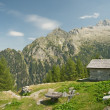 Foto Stock: Alpine landscape in Val Bondasca, Switzerland