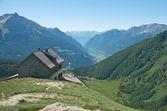 Idyllic home in Val Poschiavo, Switzerland — Stock Photo
