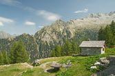 Paisagem alpina no val bondasca, suíça — Foto Stock