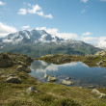 雄大な山々 の風景 — ストック写真 #9780920