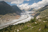 The Great Aletsch glacier (switzerland) — Stock Photo