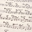 Music notation - Foto Stock