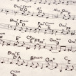 Music notation - Foto de Stock