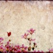 Stock Photo: Earthy background image with floral elements. useful design element.
