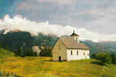 Lovely retro landscape — Stock Photo