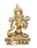 Indian tara statue against white background — Foto Stock