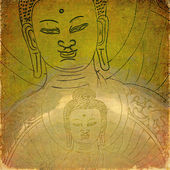 Lovely background image with buddha. useful design element. — Stock Photo