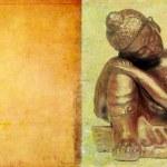 Lovely background image with buddha. very useful design element. — Stock Photo