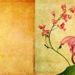 Vibrant floral illustration and design element — Stock Photo