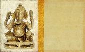 Lovely background image with figure of hindu deity ganesha. very useful design element. — Stock Photo